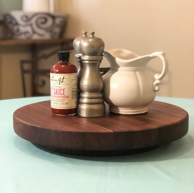 Black Walnut Lazy Susan