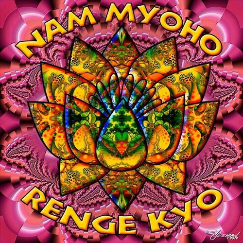 Nam Myoho Renge Kyo T-Shirt or Poster Print by Ed Seeman