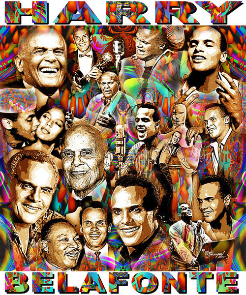 Harry Belafonte Tribute T-Shirt or Poster Print by Ed Seeman