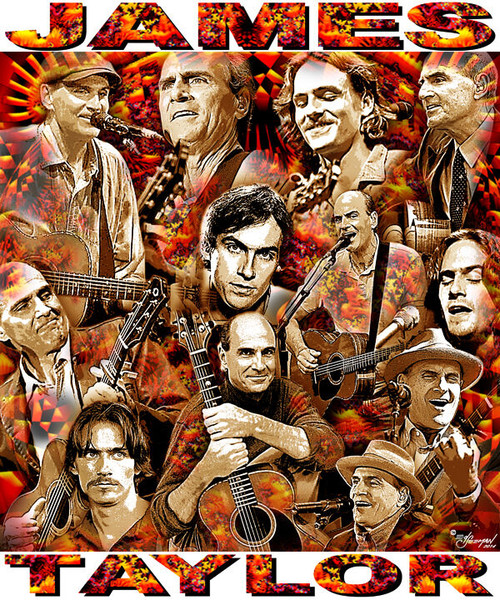 James Taylor Tribute T-Shirt or Poster Print by Ed Seeman