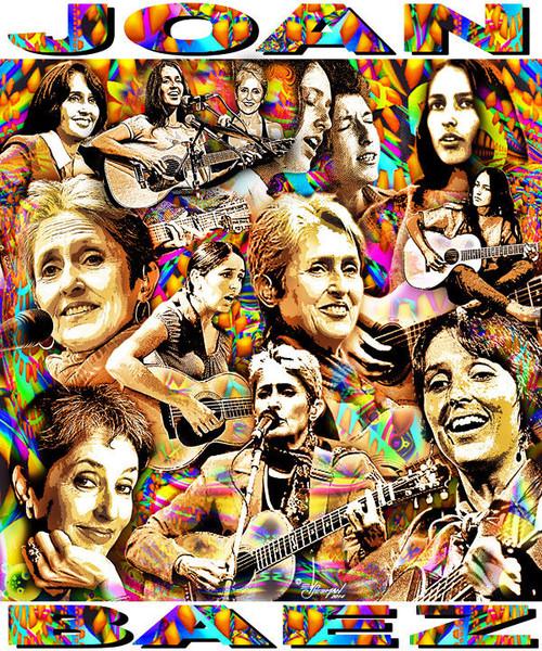 Joan Baez Tribute T-Shirt or Poster Print by Ed Seeman