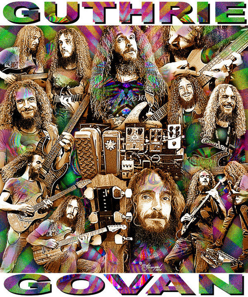 Guthrie Govan Tribute T-Shirt or Poster Print by Ed Seeman