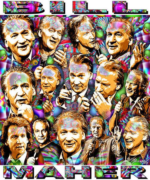 Bill Maher Tribute T-Shirt or Poster Print by Ed Seeman