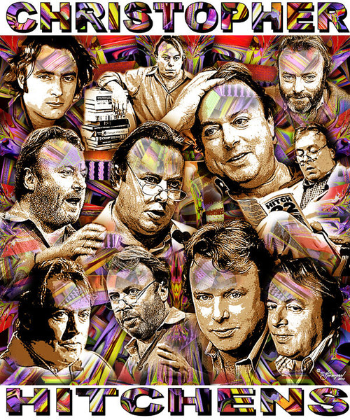 Christopher Hitchens Tribute T-Shirt or Poster Print by Ed Seeman