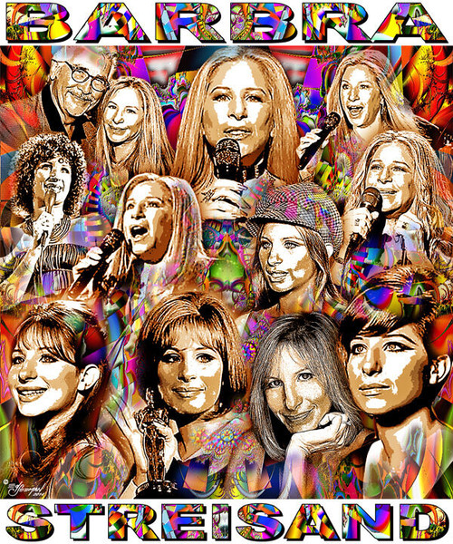 Barbra Streisand Tribute T-Shirt or Poster Print by Ed Seeman