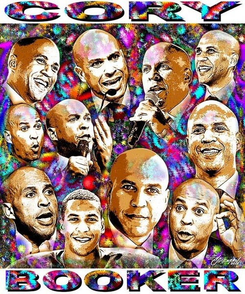 Cory Booker T-Shirt or Poster Print by Ed Seeman