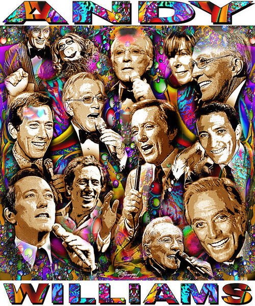 Andy Williams Tribute T-Shirt or Poster Print by Ed Seeman