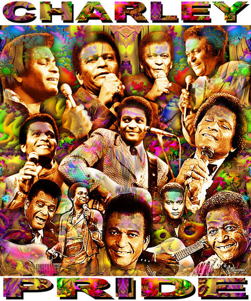 Charley Pride Tribute T-Shirt or Poster Print by Ed Seeman