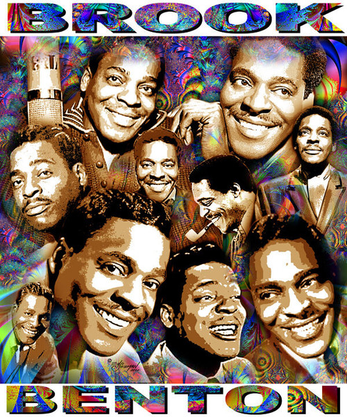 Brook Benton Tribute T-Shirt or Poster Print by Ed Seeman