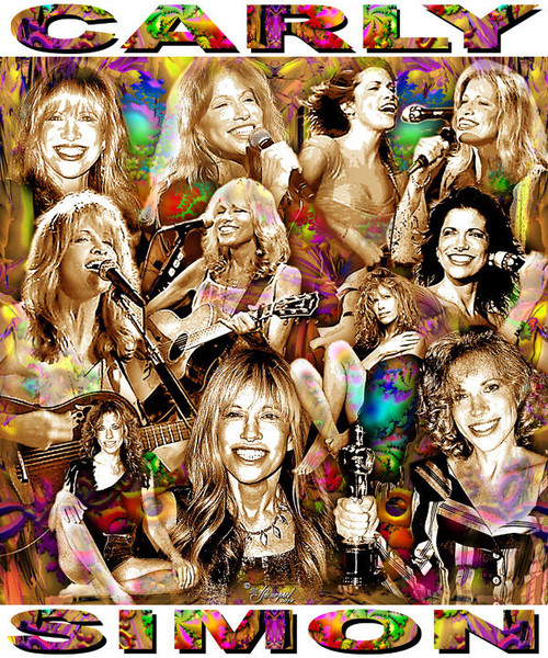 Carly Simon Tribute T-Shirt or Poster Print by Ed Seeman