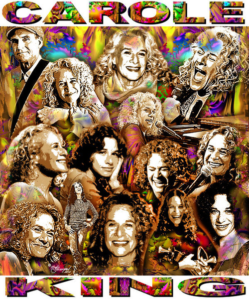 Carole King Tribute T-Shirt or Poster Print by Ed Seeman