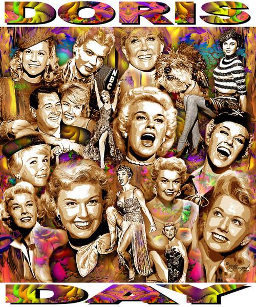 Doris Day Tribute T-Shirt or Poster Print by Ed Seeman