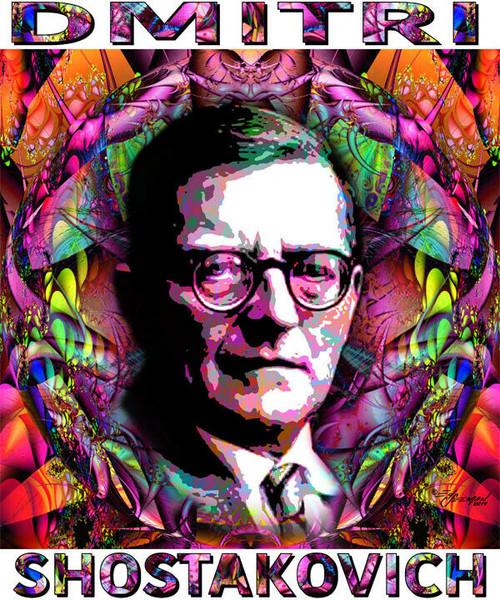 Dmitri Shostakovich Tribute T-Shirt or Poster Print by Ed Seeman