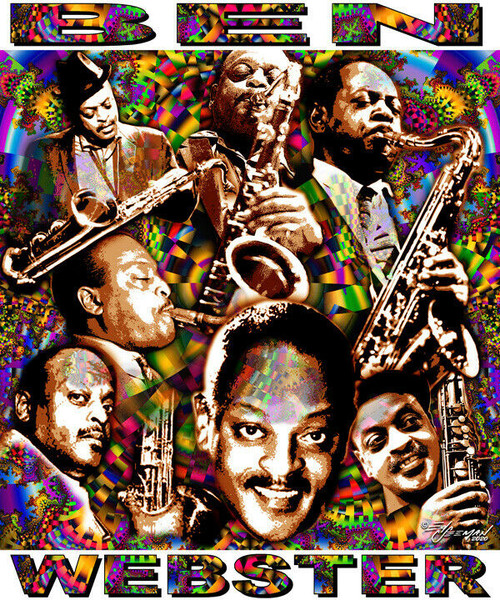Ben Webster Tribute T-Shirt or Poster Print by Ed Seeman