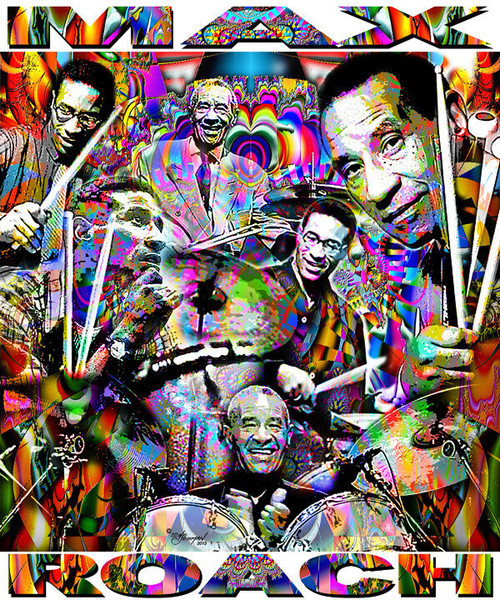 Max Roach Tribute T-Shirt or Poster Print by Ed Seeman