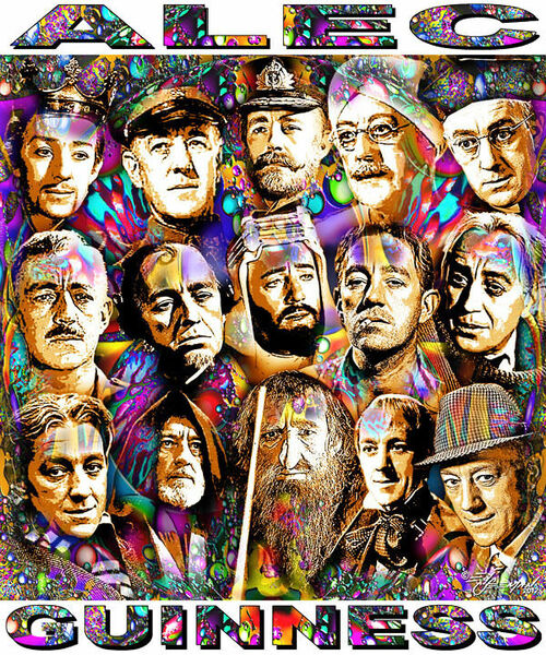 Alec Guinness Tribute T-Shirt or Poster Print by Ed Seeman