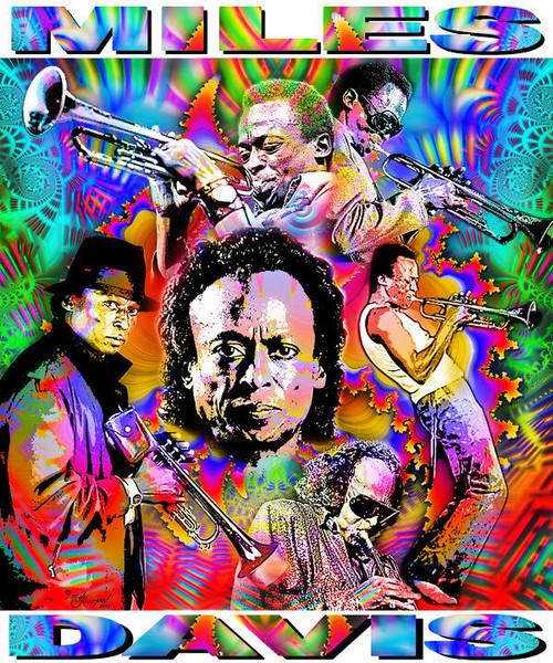 Miles Davis Tribute T-Shirt or Poster Print by Ed Seeman