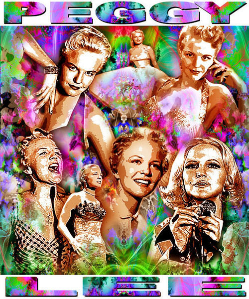 Peggy Lee Tribute T-Shirt or Poster Print by Ed Seeman