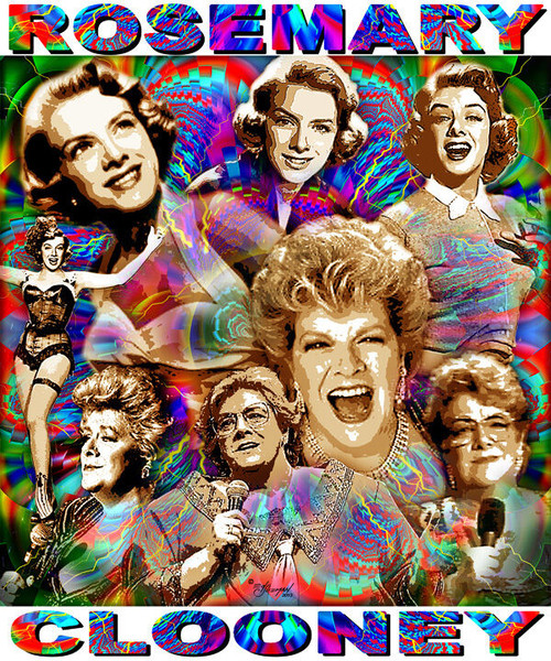 Rosemary Clooney Tribute T-Shirt or Poster Print by Ed Seeman