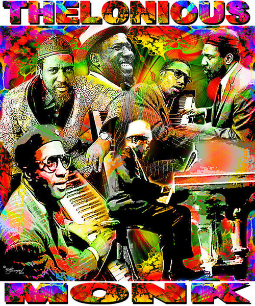 Thelonious Monk Tribute T-Shirt or Poster Print by Ed Seeman