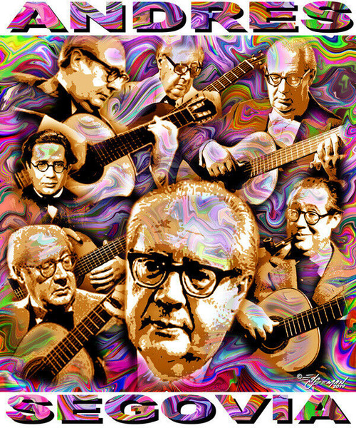 Andres Segovia Tribute T-Shirt or Poster Print by Ed Seeman