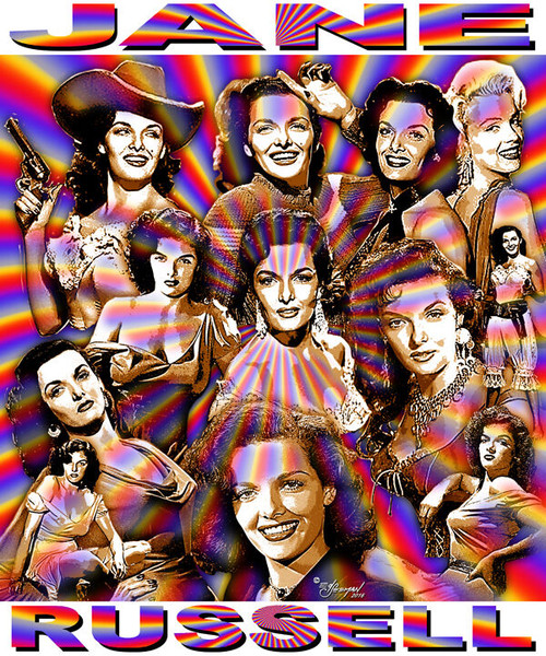 Jane Russell Tribute T-Shirt or Poster Print by Ed Seeman