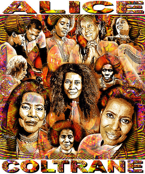 Alice Coltrane Tribute T-Shirt or Poster Print by Ed Seeman