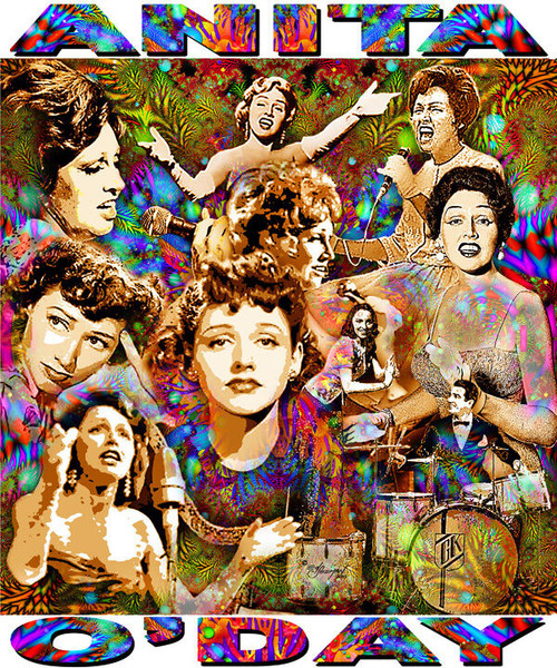 Anita O'Day Tribute T-Shirt or Poster Print by Ed Seeman