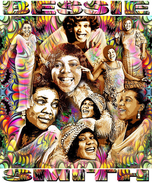 Bessie Smith Tribute T-Shirt or Poster Print by Ed Seeman