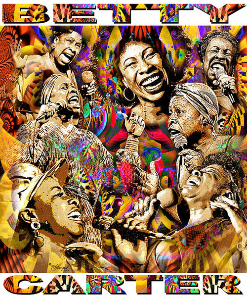 Betty Carter Tribute T-Shirt or Poster Print by Ed Seeman