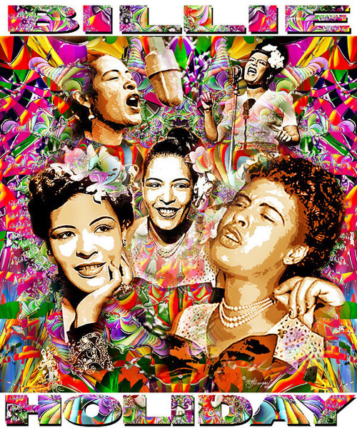 Billie Holiday Tribute T-Shirt or Poster Print by Ed Seeman