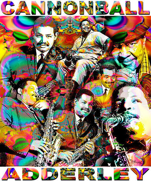 Cannonball Adderley Tribute T-Shirt or Poster Print by Ed Seeman