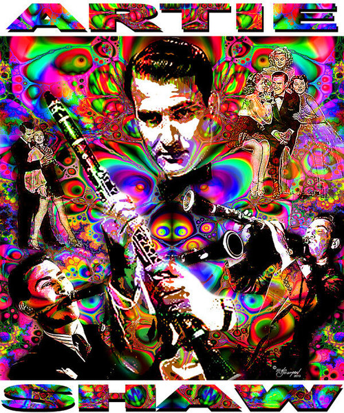 Arty Shaw Tribute T-Shirt or Poster Print by Ed Seeman