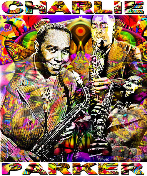 Charlie Parker Tribute T-Shirt or Poster Print by Ed Seeman