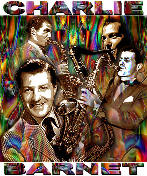 Charlie Barnet Tribute T-Shirt or Poster Print by Ed Seeman