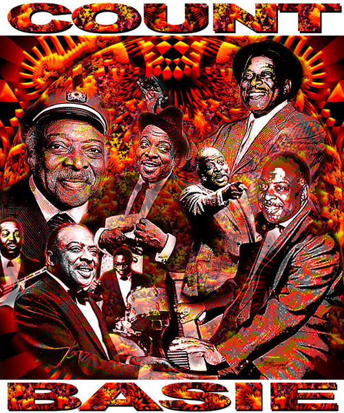 Count Basie Tribute T-Shirt or Poster Print by Ed Seeman