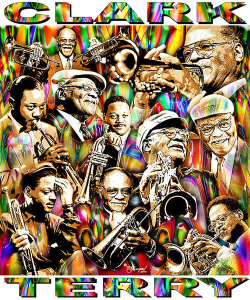Clark Terry Tribute T-Shirt or Poster Print by Ed Seeman
