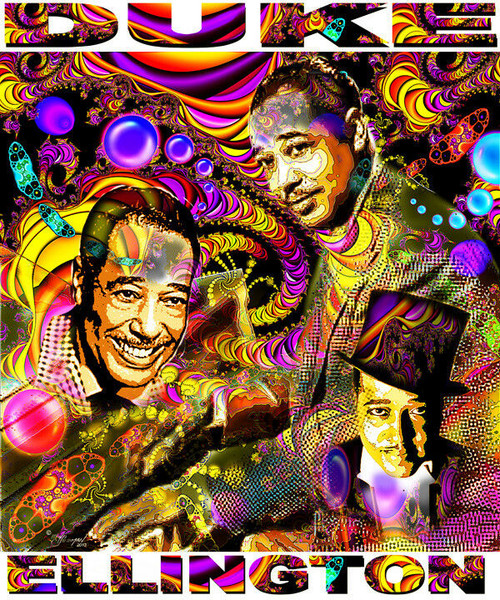 Duke Ellington Tribute T-Shirt or Poster Print by Ed Seeman