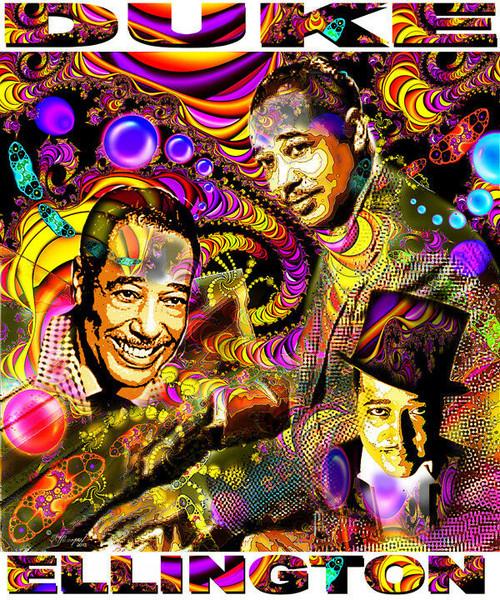 Duke Ellington Tribute T-Shirt or Poster Print by Ed Seeman