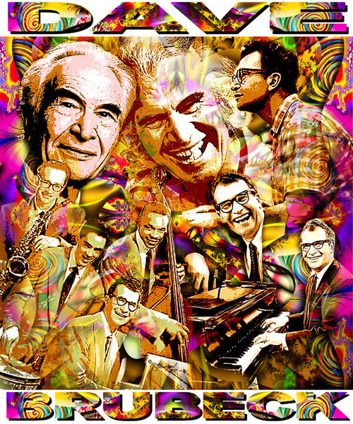 Dave Brubeck Tribute T-Shirt or Poster Print by Ed Seeman