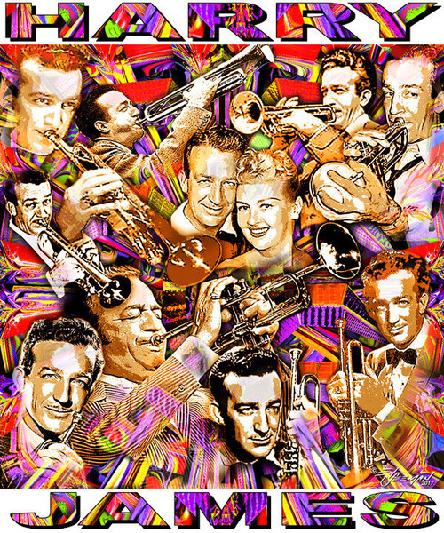 Harry James Tribute T-Shirt or Poster Print by Ed Seeman