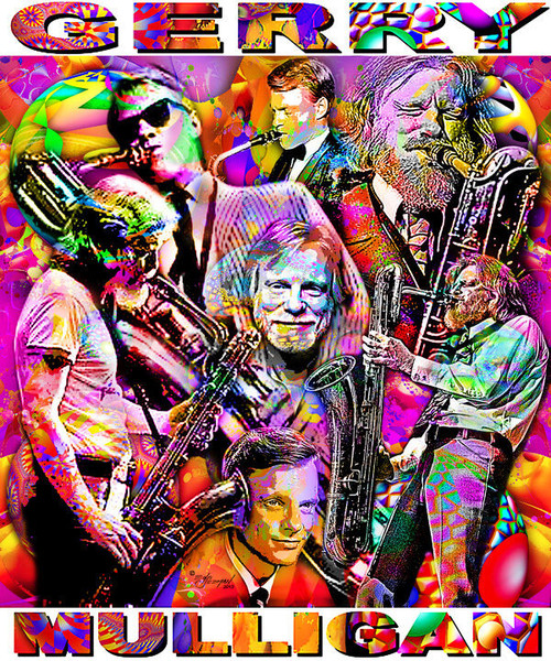Gerry Mulligan Tribute T-Shirt or Poster Print by Ed Seeman
