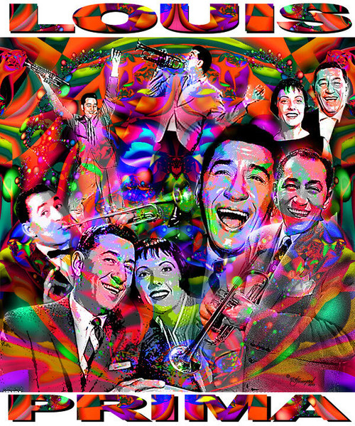 Louis Prima Tribute T-Shirt or Poster Print by Ed Seeman