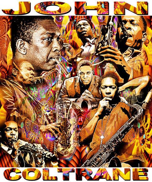 John Coltrane Tribute T-Shirt or Poster Print by Ed Seeman