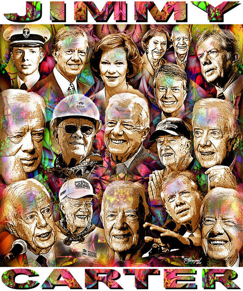Jimmy Carter Tribute T-Shirt or Poster Print by Ed Seeman