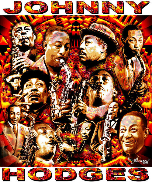Johnny Hodges Tribute T-Shirt or Poster Print by Ed Seeman