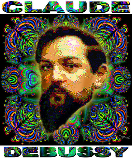 Claude Debussy Tribute T-Shirt or Poster Print by Ed Seeman