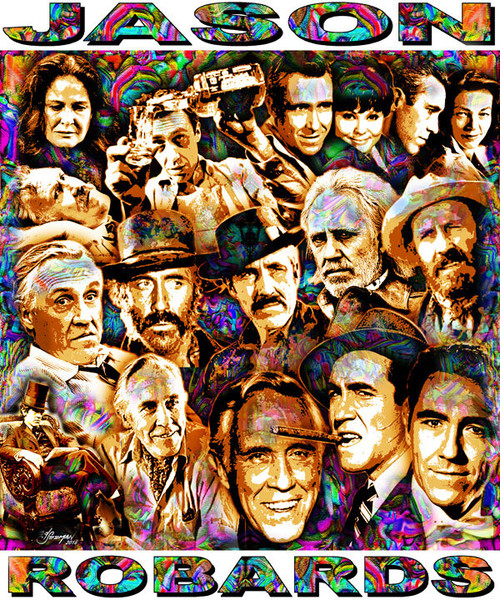 Jason Robards Tribute T-Shirt or Poster Print by Ed Seeman