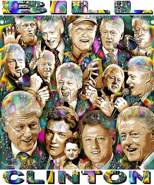 Bill Clinton Tribute T-Shirt or Poster Print by Ed Seeman