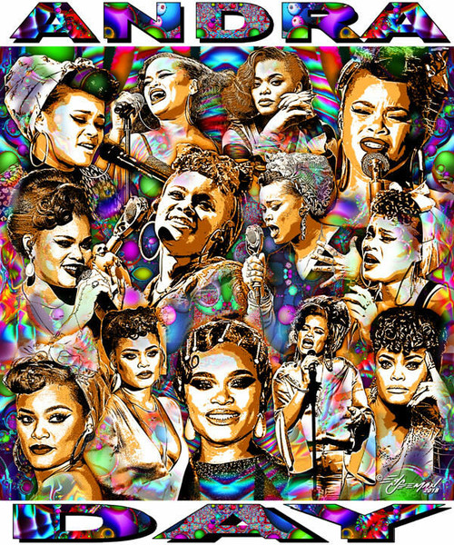 Andra Day Tribute T-Shirt or Poster Print by Ed Seeman